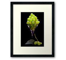 Green Grape Juice Framed Print