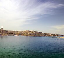 Valletta from Sliema Harbour by Susan Dailey