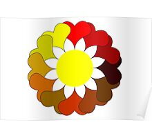 Multi colored flower Poster