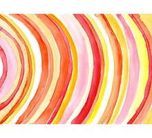 Watercolor curves Photographic Print