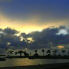 Sunset in Bora Bora by Laurel Talabere