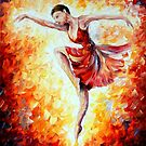 Flaming Dance — Buy Now Link - www.etsy.com/listing/224620941 by Leonid  Afremov