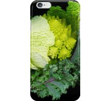 Cabbage and Kale on Black iPhone Case/Skin