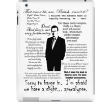 Giles in his own words - black iPad Case/Skin