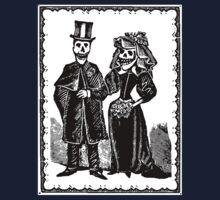 Skeleton Wedding (Border) Kids Clothes