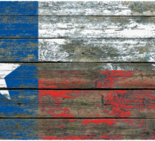 Flag of Texas on Rough Wood Boards Effect Sticker