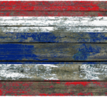 Flag of Thailand on Rough Wood Boards Effect Sticker