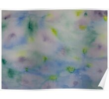 Garden Pond Abstract Poster