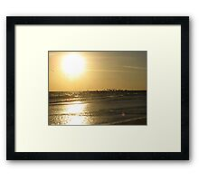 Daytona Beach Sun Framed Print