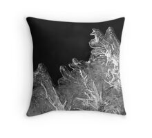 Icy square Throw Pillow