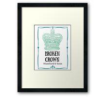 Broken Crown Framed Print