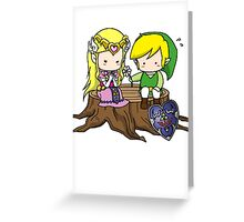 Zelda X Link Greeting Card