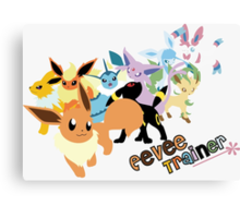 Eevee Trainer Canvas Print
