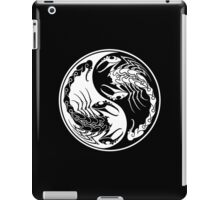White and Black Scorpions Yin Yang  iPad Case/Skin