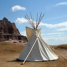 Badlands Teepee by kerplunk