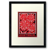 Mangels Flowers Red White Black Framed Print