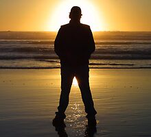 Beach silhouette by kerplunk