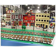 Lego Trains, Lego Buildings, Greenberg's Train and Toy Show, Edison, New Jersey  Poster
