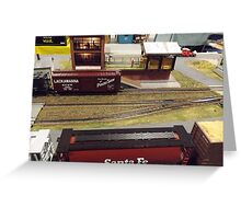 Scale Model Trains, Scale Model Buildings, Greenberg's Train and Toy Show, Edison, New Jersey  Greeting Card