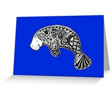 Manatee blue Greeting Card