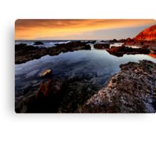 Sunset Pool Canvas Print
