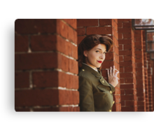Tanya Wheelock as Peggy Carter (Photography by Markus Zimmerman, with Additional Editing by Tascha Dearing) Canvas Print