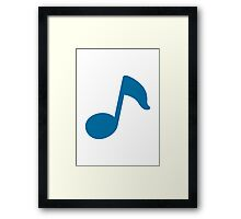 Musical Note Google Hangouts / Android Emoji Framed Print