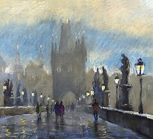 Prague Charles Bridge 06 by Yuriy Shevchuk