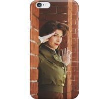 Tanya Wheelock as Peggy Carter (Photography by Markus Zimmerman, with Additional Editing by Tascha Dearing) iPhone Case/Skin