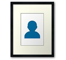 Bust In Silhouette Google Hangouts / Android Emoji Framed Print