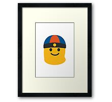 Man With Gua Pi Mao Google Hangouts / Android Emoji Framed Print