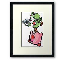 Yoshi and Kirby Framed Print