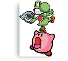 Yoshi and Kirby Canvas Print