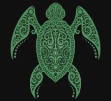 Intricate Green Sea Turtle Kids Clothes