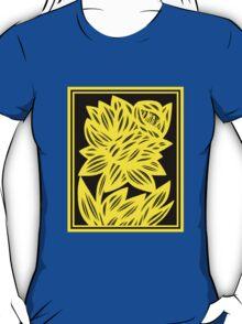 Gertel Daffodil Flowers Yellow Black T-Shirt