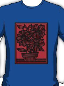 Sherill Flowers Red Black T-Shirt