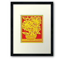 Merson Flowers Yellow Red Framed Print
