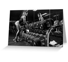 Fit woman ready to workout Greeting Card