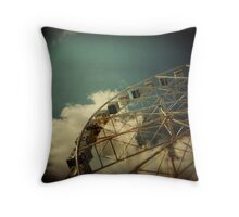 Melbourne wheel Throw Pillow