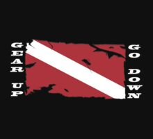 Gear Up Go Down - For Dark Shirts by Karri Klawiter