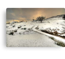 Winter Scene near Ingleton Canvas Print