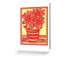 Marchiori Flowers Yellow Red Greeting Card