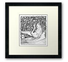 Swan Splash Framed Print