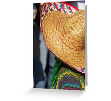 mask sombrero to carnelale Greeting Card