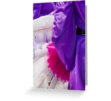 colored feathers to the carnival Greeting Card
