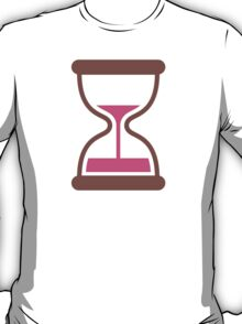 Hourglass With Flowing Sand Google Hangouts / Android Emoji T-Shirt