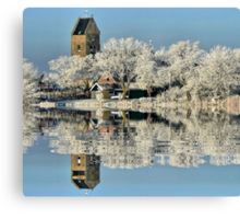 NATURES WINTER MIRROR # 2 Canvas Print