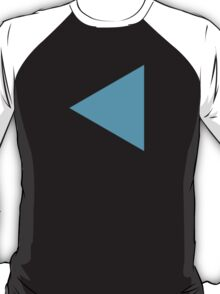 Black Left-Pointing Triangle Google Hangouts / Android Emoji T-Shirt