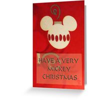 Mickey Christmas Card Greeting Card