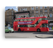 Red London Bus Canvas Print